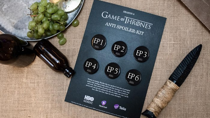 Антиспойлерные значки для фанатов «Игры престолов»