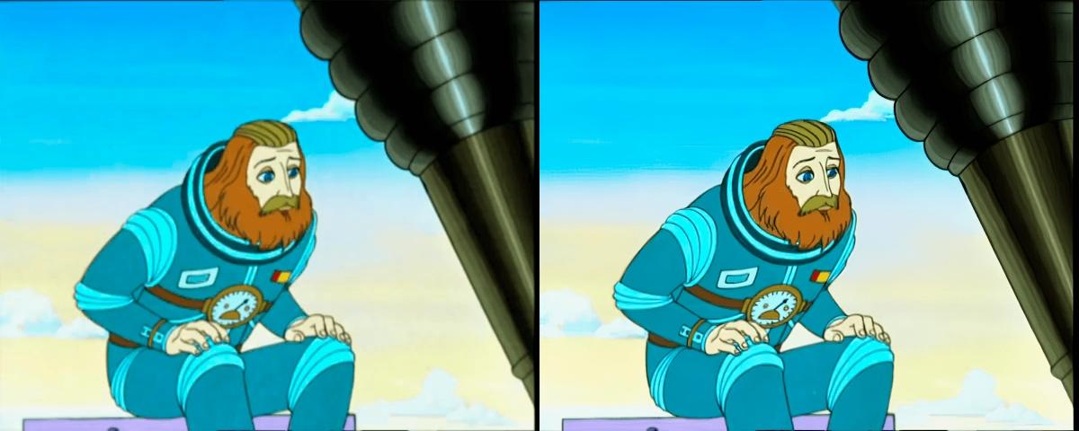 Слева - оригинал, справа - результат после улучшения