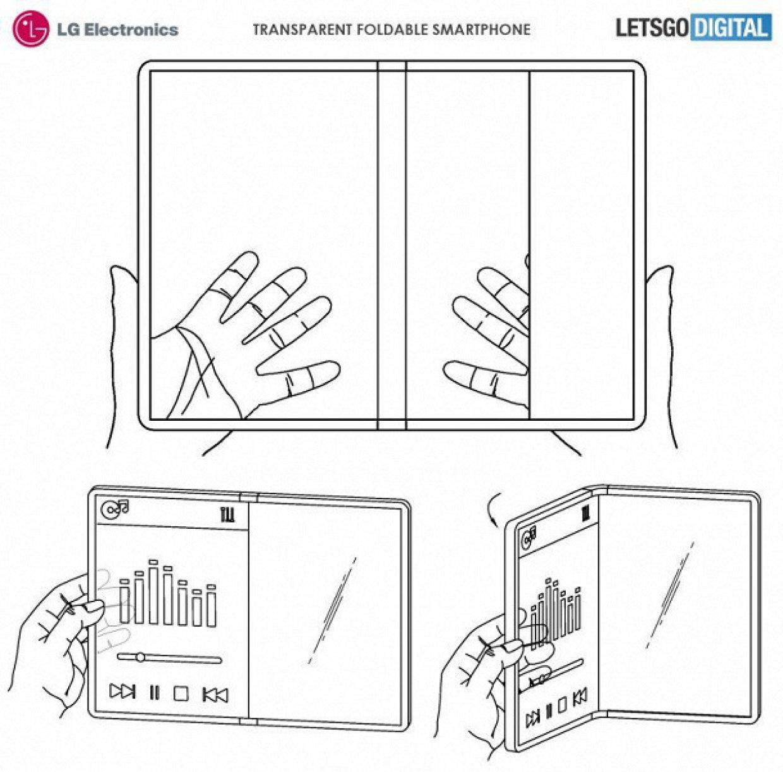 Патент складного прозрачного телефона от LG