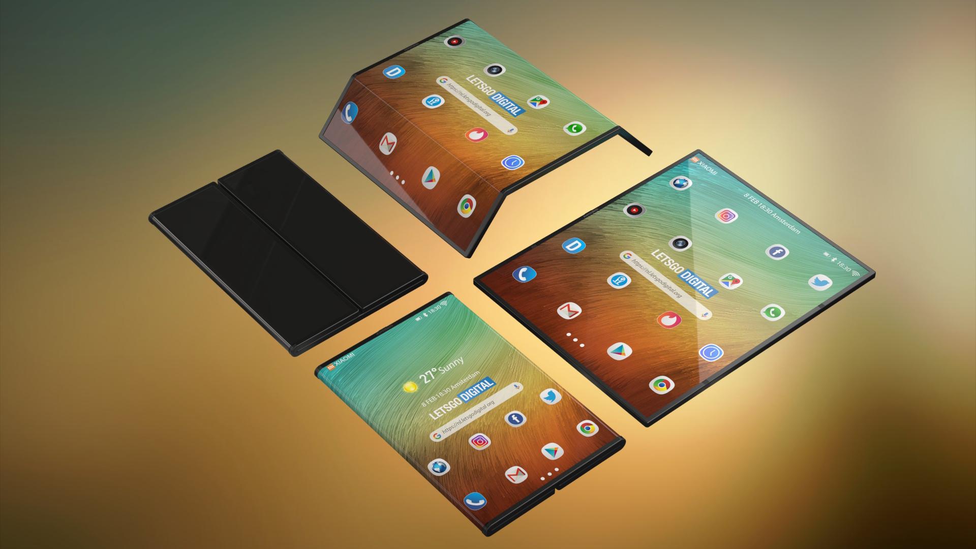 Концепт раскладывающегося смартфона от Xiaomi